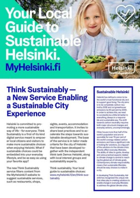 Think Sustainably Experience
